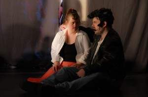 Sandy (Katie R.) & Danny (Cory R.) in the opening scene.