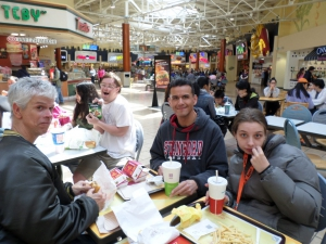 APP enjoying lunch at the Great Mall.